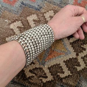 Chicos 🧿 Silver stretch bracelet cuff